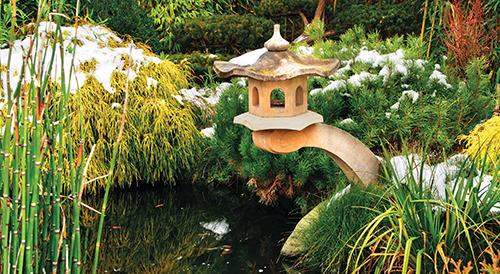 Teprve voda dělá zahradu zahradou.