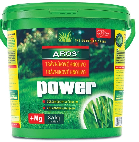 Vegetační trávníkové hnojivo AROS POWER® s dlouhodobým účinkem