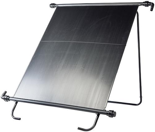 Nejjednodušším ohřevem bazénové vody je ohřev pomocí solárních panelů.