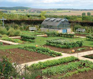 Zeleninová zahrada s výhledem do krajiny nabízí inspiraci, poučení i odpočinek.