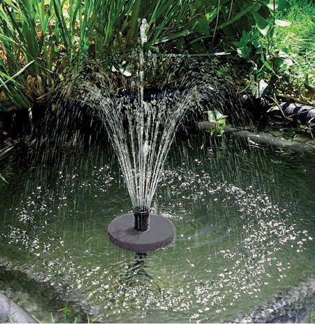 Jezírková fontána s funkcí proti zamrznutí.