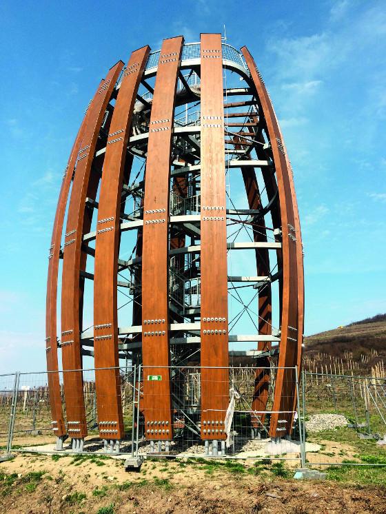 OSMO Ochranná olejová lazura na objektu Vyhlídková věž v Tokajíku u Prešova.
