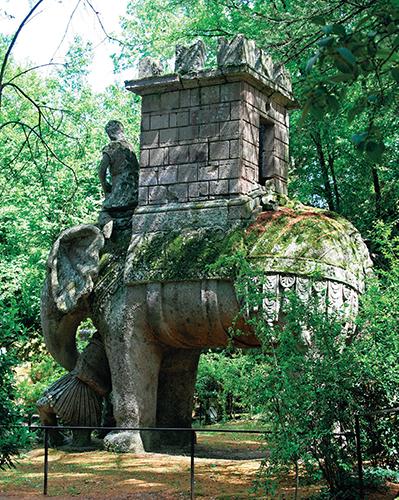 Hannibalův slon zabíjející římského legionáře.