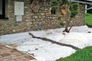 Natažení geotextilie