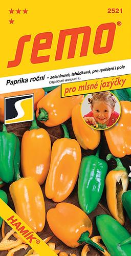 """Lahůdková """"baby"""" paprika HAMÍK® z kolekce PRO MLSNÉ JAZÝČKY firmy SEMO a. s."""