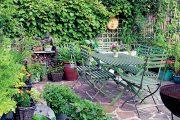 Přestože jsou rostliny vysazené v nádobách nejrůznějšího původu, vypadají hezky a vesele.