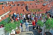 Palácové zahrady jsou nejnavštěvovanějšími zahradami v Praze.