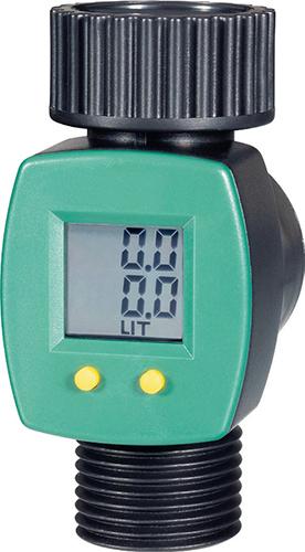 S jednoduchým digitálním průtokoměrem budete mít kontrolu nad množstvím spotřebované vody.