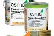 Přírodní oleje a vosky značky Osmo.
