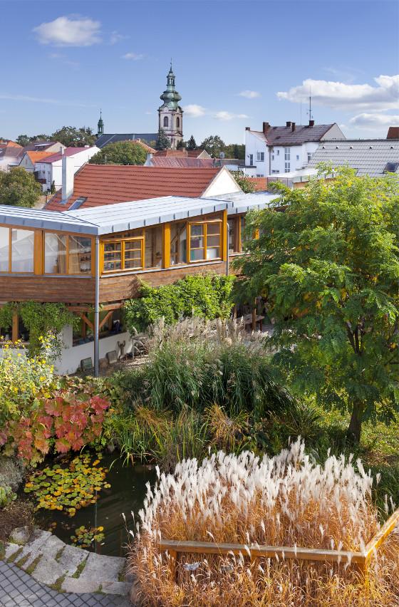 Celá koncepce zahrady byla přizpůsobená tomu, aby vypadala jako česká krajina.
